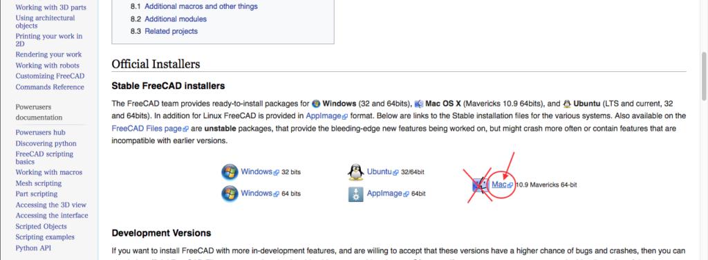 『FreeCAD Mac版』の導入